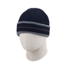 36 of Adult Plain Ribbed Stripped Beanie Hat
