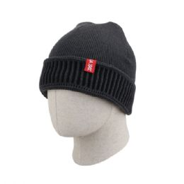 36 of Adult Plain Ribbed Beanie Hat