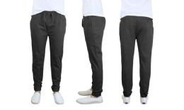 24 of Men's Cotton Stretch Twill Joggers In Black