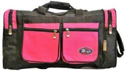 24 of 30 Inch Hot Pink Heavy Duty Duffel Bag