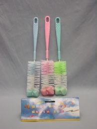 36 of 3 Piece Plastic Baby Bottle Brush