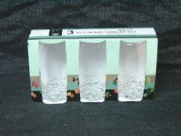 24 of 3 Piece Glass Tumbler Set