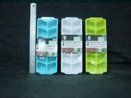 36 of 2 Piece Plastic Ice Cube Tray
