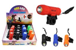 16 of Cob Led Flashlight/bike Light Ultra Bright