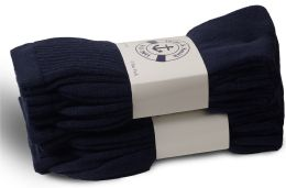 36 of Yacht & Smith Women's Cotton Terry Cushioned Crew Socks, Size 9-11, Navy Bulk Packs