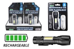 12 of Rechargeable Cob Led Mini Tactical Flashlight Ultra Bright
