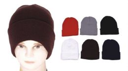 72 of Unisex Assorted Color Beanie Hats