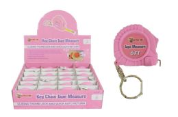 24 of Keychain Pink Tape Measure