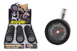 18 of Rubber Wheel Dial Tire Gauge