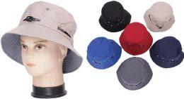 72 of Men's Plain Assorted Color Bucket Hat