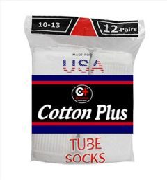 5040 of Men's Long White Tube Socks, Size 10-13