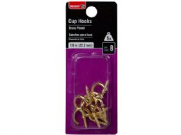 144 of Bulldog Hardware Brass Plate 8 Pack 7/8 Cup Hooks