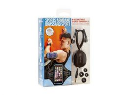 18 of Blue Smart Phone Armband With Retractable Sports Wrap Earbud