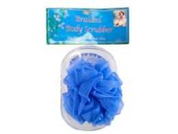 72 of Body Scrubber With Tray In Assorted Colors