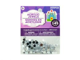 108 of Small Silver Acrylic Jewels 145 Pack