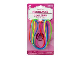 144 of 6 Pack Rainbow Silicone Necklaces