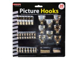 18 of 30 Pack Picture Hanging Hooks