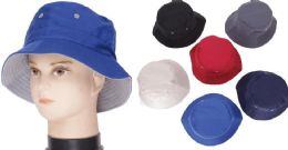 72 of Men's Assorted Color Bucket Hat
