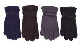 72 of Men's Fleece Glove Assorted Colors
