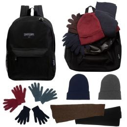 12 of 12 Backpacks And 12 Winter Item Sets