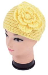 120 of Knitted Floral Winter Head Band