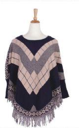 36 of Women's Fashion Striped Winter Ponchos