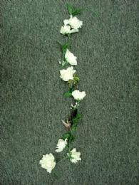 36 of 4' Large Open Rose Garland