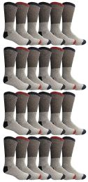 24 of Yacht & Smith Mens Thermal Socks, Warm Cotton, Sock Size 10-13