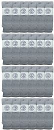 24 of Yacht & Smith Men's 31 Inch Cotton Terry Cushioned Athletic Gray Tube SockS-King Size 13-16