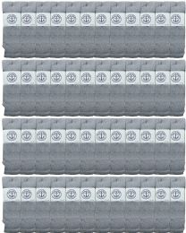 48 of Yacht & Smith Men's 31 Inch Cotton Terry Cushioned Athletic Gray Tube SockS-King Size 13-16