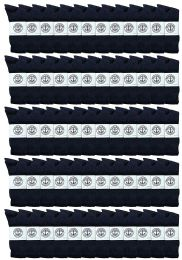 72 of Yacht & Smith Men's Athletic Cotton Crew Socks Terry Cushioned Navy Size 10-13
