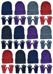 24 of Yacht & Smith Womens Warm Winter Hats And Glove Set 24 Pieces