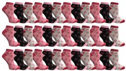 36 of Yacht & Smith Pink Ribbon Breast Cancer Awareness Ankle Socks For Women