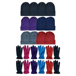 288 of Yacht & Smith Women's Winter Care Set, Fleece Gloves And Winter Beanie Set