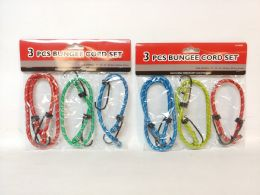 72 of Bungee Cord 3 Piece Set Assorted Color