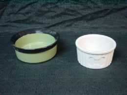 18 of Ceramic Pet Bowl Medium Assorted Designs And Shapes