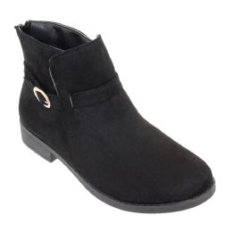 12 of Women's Suede Ankle Boots In Black