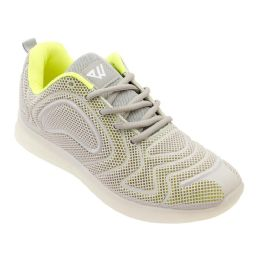 12 of Men's Casual Athletic Sneakers In Neon L. Grey
