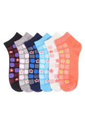 432 of Woman's Tile Printed Ankle Socks