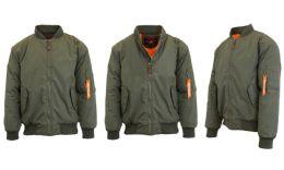 12 of Men's Heavyweight MA-1 Flight Bomber Jackets Olive Size Small