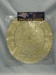 144 of Table Round Runner Beige Gold