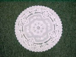 600 of Crochet Round Placemat Beige