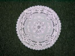 432 of Crochet Round Placemat White Silver