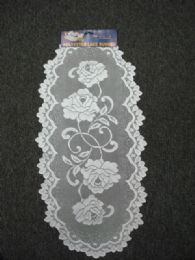 432 of White Oval Lace Table Runner