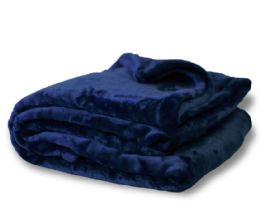 12 of Oversized Mink Touch BlanketS- Navy Color