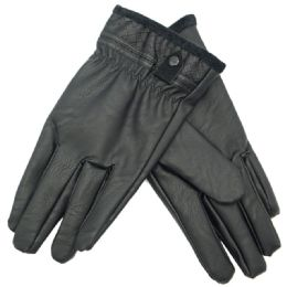 36 of Men's Faux Leather Insulated Glove