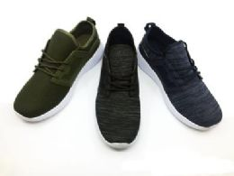12 of Contemporary Men's Breathable Sneakers With Laces In Black