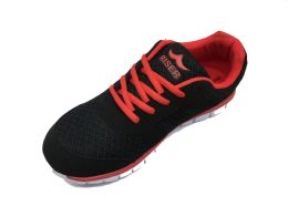 12 of Riser Vintage Design Women's Sneakers With Laced Closure In Black And Red