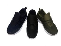 12 of Cool Pull On Kids Sneakers With Laced Front In Black