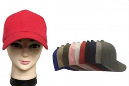 120 of Baseball Cap Plain Blank Solid Color Blue Only